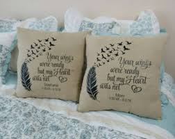 personalized in loving memory gifts custom memory pillow etsy