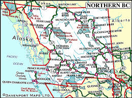 map of bc map of northern columbia columbia travel and