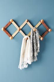 shop decorative wall hooks coat hooks 50 100 anthropologie wooden accordian hook rack