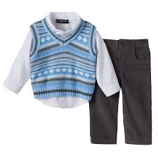 only apparel baby boy sweater vest corduroy set
