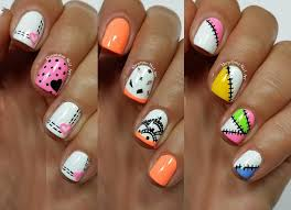 3 easy nail art designs for short nails freehand 3 youtube