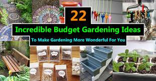 Budget Garden Ideas 22 Budget Gardening Ideas Garden Ideas On A Budget