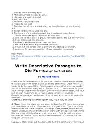 descriptive essay sample about a person fear descriptive phrases