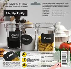 amazon com chalky talky 36 reusable large chalkboard labels