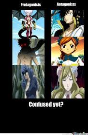 Fairy Tail Funny Memes - fairytail funny memes protagonists vs antagonists wattpad