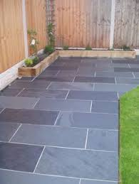 Garden Slabs Ideas Black Grey Slate Paving Patio Garden Slabs Slab Tile Images
