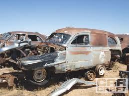 police truck junkyard crawl 1951 cadillac series 86 police truck rod