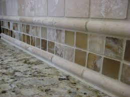 Glass Tile Border Inspiring Tumbled Travertine Subway Tile Backsplash Photo