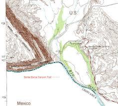 Big Bend Map Santa Elena Canyon Trail Climbing Hiking U0026 Mountaineering