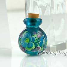cremation ashes jewelry glass vial for pendant necklacekeepsake urns jewelrycremation urns