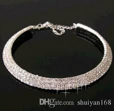 crystal diamond necklace images Best quality super gorgeous diamond necklace wedding party jpg