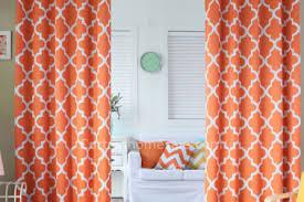 Geometric Orange Curtains 6 Coral Geometric Design Curtains Geometric Coral Fabric By The