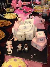 chanel baby shower chanel themed baby shower sweet table party