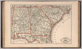 Ga Counties Map New Rail Road And County Map Of Alabama Georgia South Carolina