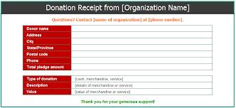 donation receipt templates