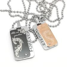 customized dog tag necklace personalized id army tags necklace custom stainless steel dog tag