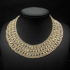 neck collar necklace images Fashion high collar beaded necklaces wholesale wide choker jpg