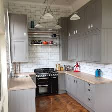 my completed kitchen b u0026q carisbrook taupe grey gray framed