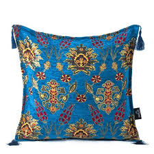 Ottoman Pillow Ottoman Pillow Blue2 Grand Bazaar Istanbul Shopping