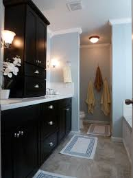 black and blue and beautiful bathroom remodel the tub
