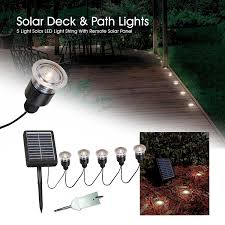 Solar Panel Landscape Lighting Kenroy Home 60503 Solar Light String 5 Light Set Landscape Path