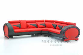 Black Leather Sectional Sofas Modern Line Furniture Commercial Furniture Custom Made