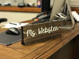 custom office desk signs personalized desk name plate teacher wooden nameplate doctor