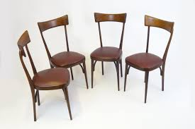 4 Chair Dining Table Set With Price Mid Century Italian Mahogany Dining Chairs Set Of 4 For Sale At