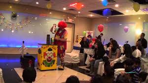 clown for birthday party nj soham new jersey 6th birthday party clown magic show