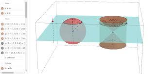 volume of a sphere geogebra