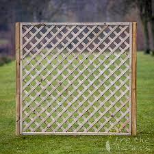 diagonal garden trellis panels with frame breathe azores