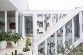architecture exterior home in san isidiro decoration using white