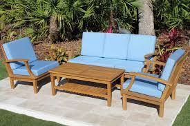 deep seat teak set u2013 5 seat including full sunbrella cushions