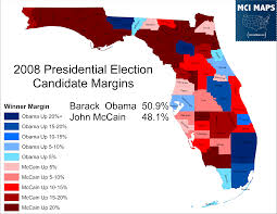 Map Of Florida Cities And Counties by The Disappearing Swing Counties Of Florida U2013 Mci Maps