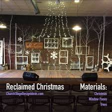 Church Stage Christmas Decorations Manger Frame Stage Design Christmas Decorations Church