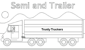 coloring pages horse trailer truck and horse trailer coloring pages as pickup plus semi page tra