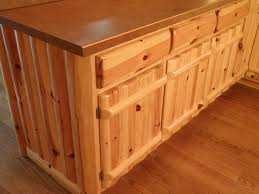 Knotty Pine Cabinets Kitchen Furniture The Exoticism Of Knotty Pine Cabinet Annsatic Com
