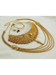 indian bridal necklace images Gold plated indian bridal jewelry set wedding traditional jewelry jpg