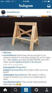 19 best sawhorse images on pinterest saw horses woodwork and wood
