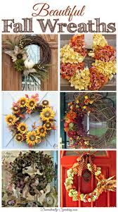 6 gorgeous fall wreaths friday features wreaths craft and