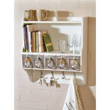 kitchen bright white kitchen wall shelf unit filled with some