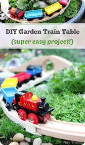 diy outdoor train table a wooden train garden railway train