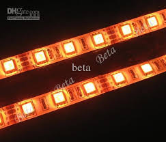 sale orange led car light strips waterproof smd