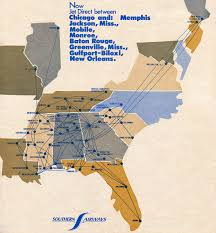 Atlanta Airport Map Delta by Southern Airways Republic Airlines Sunshine Skies
