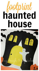 spooky footprint haunted house haunted houses footprints and craft