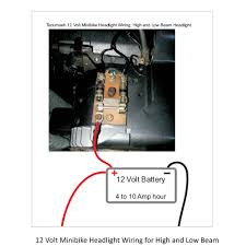 tecumseh minibike dc headlight u0026 taillight wiring home of the