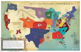 United States Map Games by The United States Of Football Jared Fanning