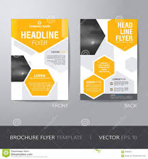 design flyer corporate hexagonal brochure flyer design layout template in a4