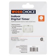 Tork Plug In Timers Dimmers by Work Choice Indoor Digital Timer Walmart Com