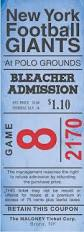 i designed this based on an original ticket to a ny giants game at